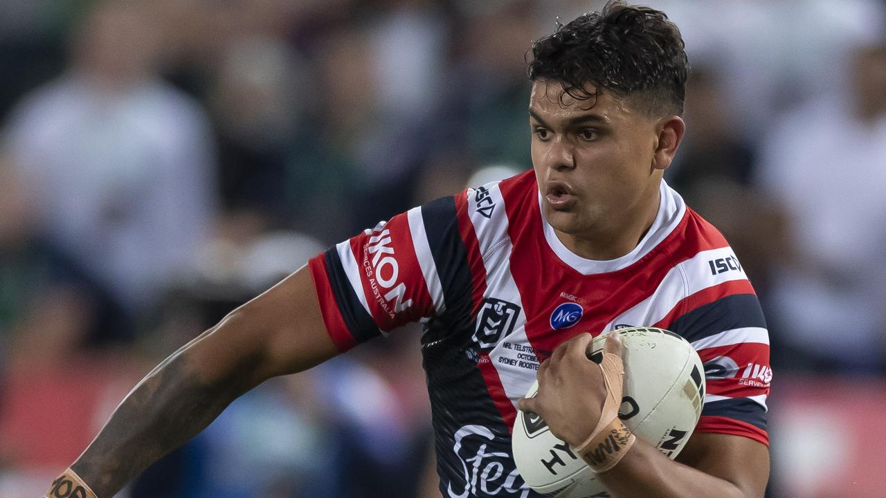 Latrell Mitchell will be expected back at training for the Roosters early next month. Picture: AAP