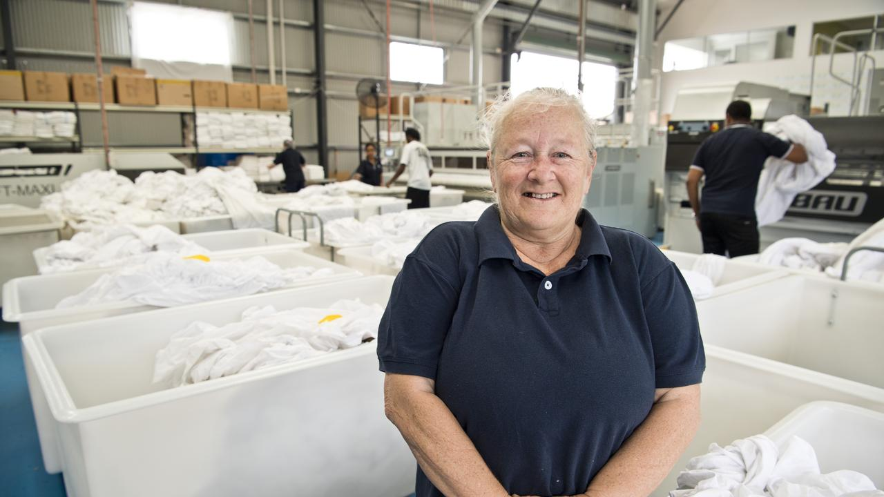 Being employed by Vanguard Laundry Services helped Vanda Storie get back on her feet and into her current job at a different business. Picture: Kevin Farmer