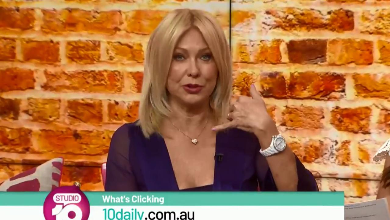 Kerri-Anne Kennerley on Studio 10 on Friday.