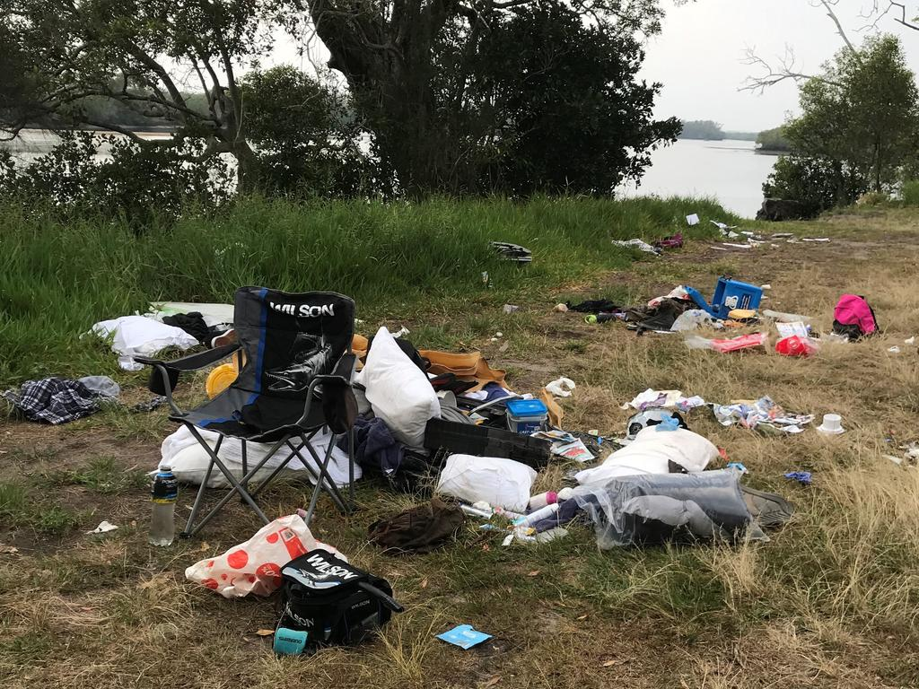 Coochin Creek residents have been left appalled after a popular fishing spot has twice been used as an illegal dumping site. Picture: Contributed