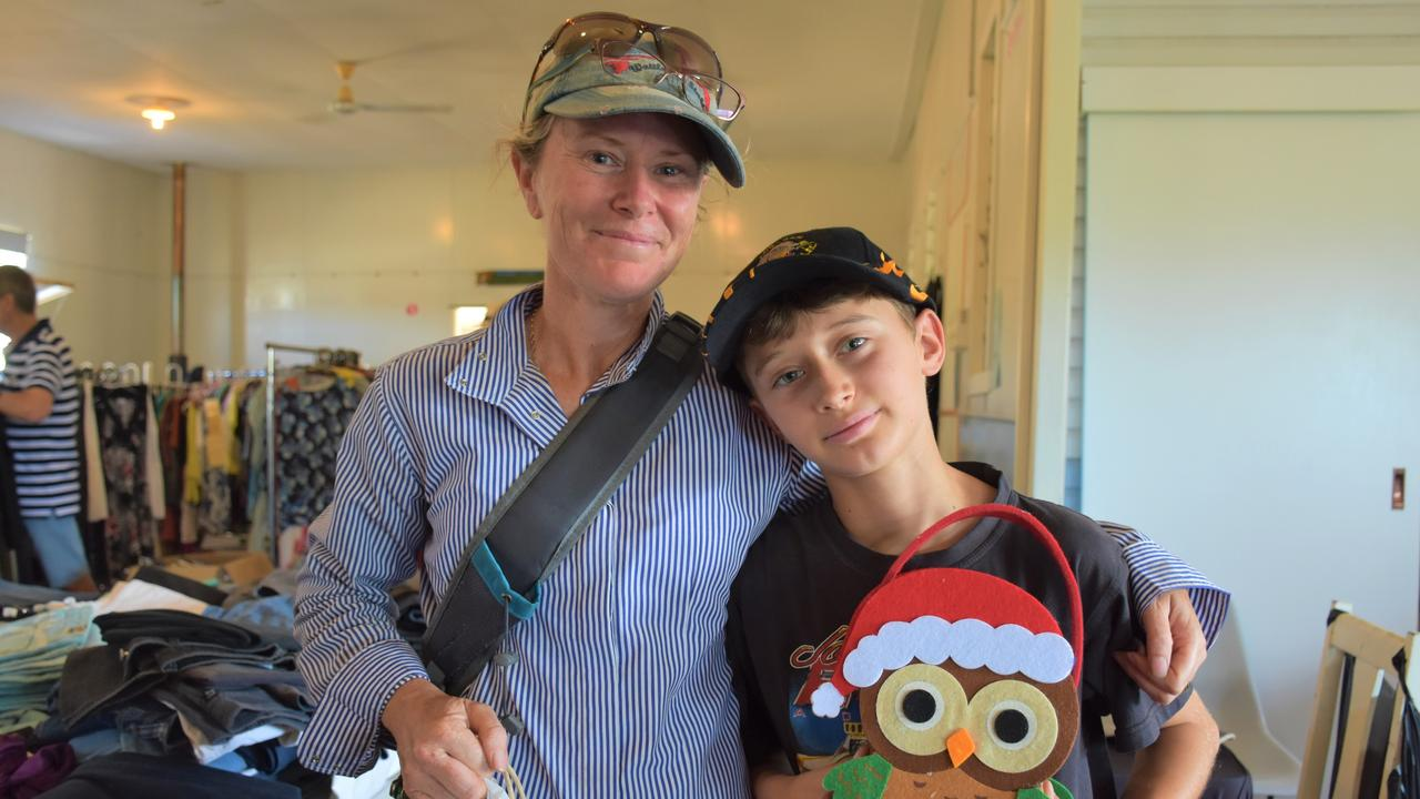 BAGS IN HAND: Christmas is looking a lot merrier for Nadia and Jack Finger, 10.