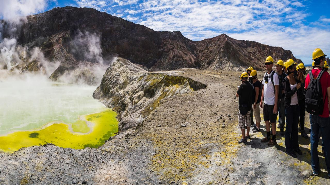 Around 10,000 tourists explore the White Island volcano each year. Picture: Alamy