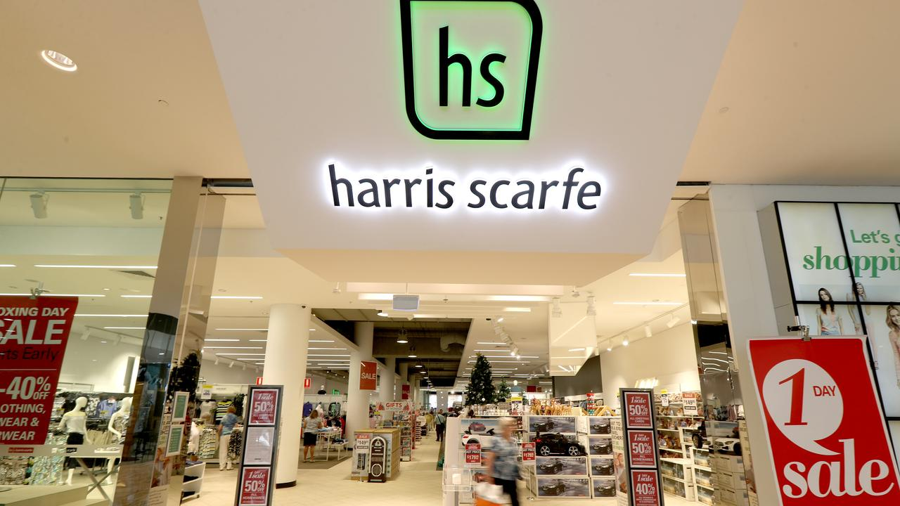 Harris Scarfe has 66 stores across the country. Picture: AAP Image/Kelly Barnes