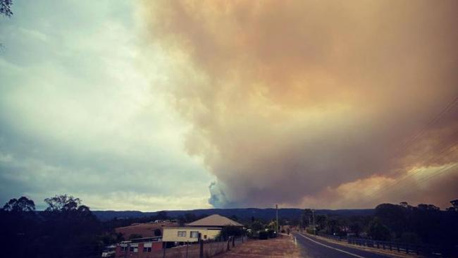 Smoke from Gospers mountain fire. Picture: Instagram.