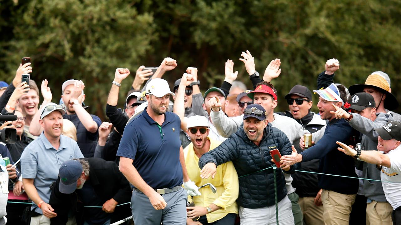 Golf fans have turned out in force at Royal Melbourne. Picture: Darrian Traynor/Getty Images