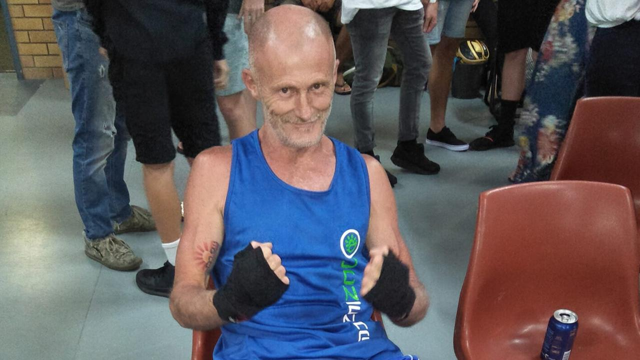 Grafton boxer Dean Cribb waits for his fight in Caloundra.