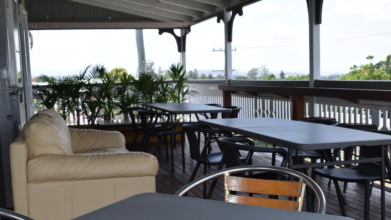 Plenty of room to relax on the Australian Hotel's upstairs verandah