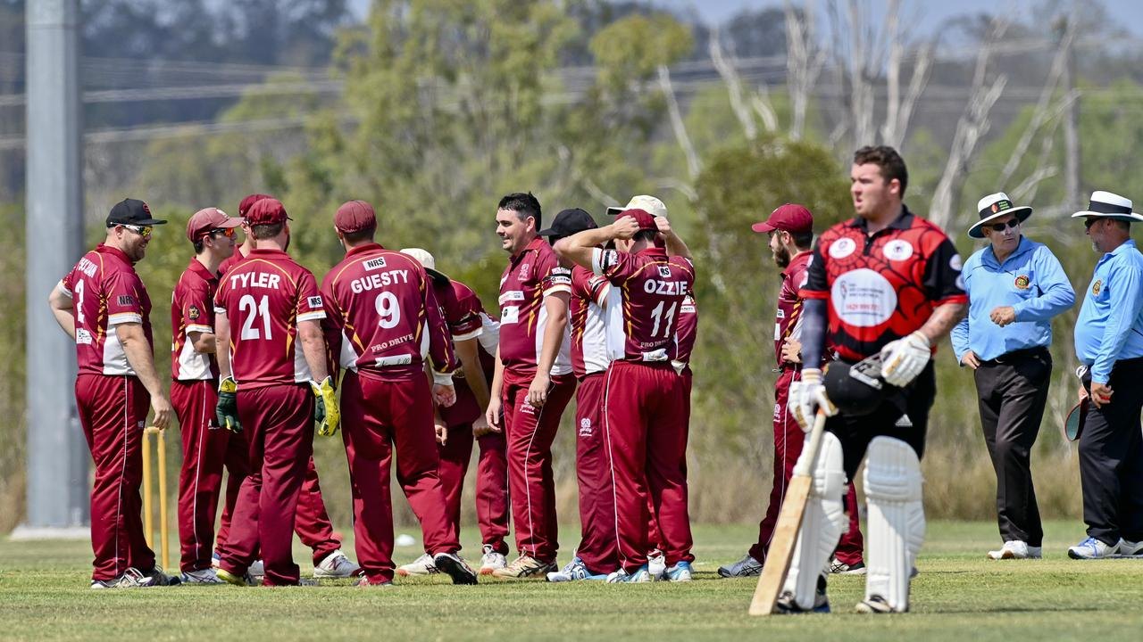 Centrals players reflect on their progress on their way to securing a comfortable win over South East Redbacks in the Baxter Big Bash match at Tivoli. Picture: Cordell Richardson