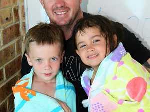Tyler, Jason and Chloe Walduck enjoyed the swimming