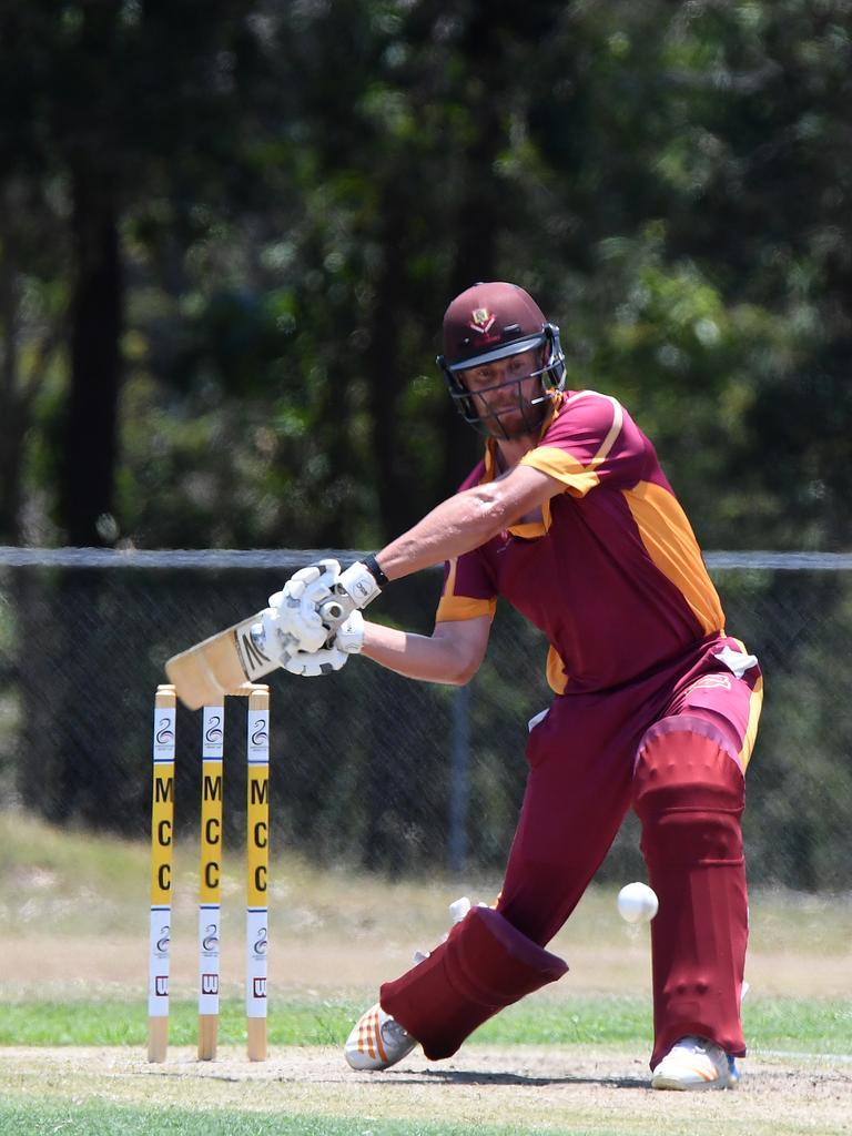 Maroochydore against Tewantin Noosa T20 cricket match.Tewantin Noosa batsman Scott Aufderheide. Picture: Warren Lynam