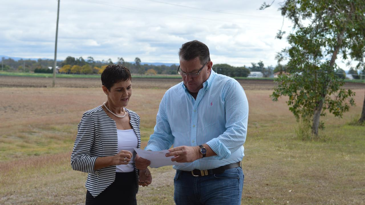 LIKE NEW: Lockyer Valley Mayor Tanya Milligan and Federal Member for Wright Scott Buchholz. Federal funding is helping to upgrade two roads in the Laidley township. Picture: Contributed