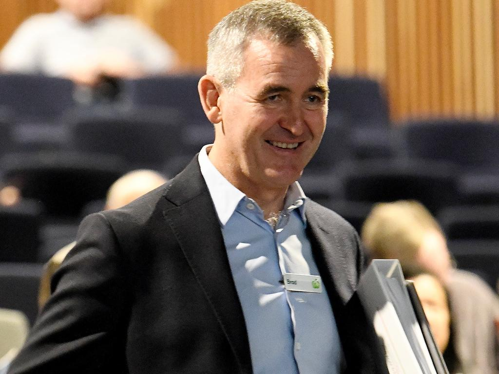 Woolworths CEO Brad Banducci is seen during the Woolworths Group Limited Annual General Meeting. Picture: AAP