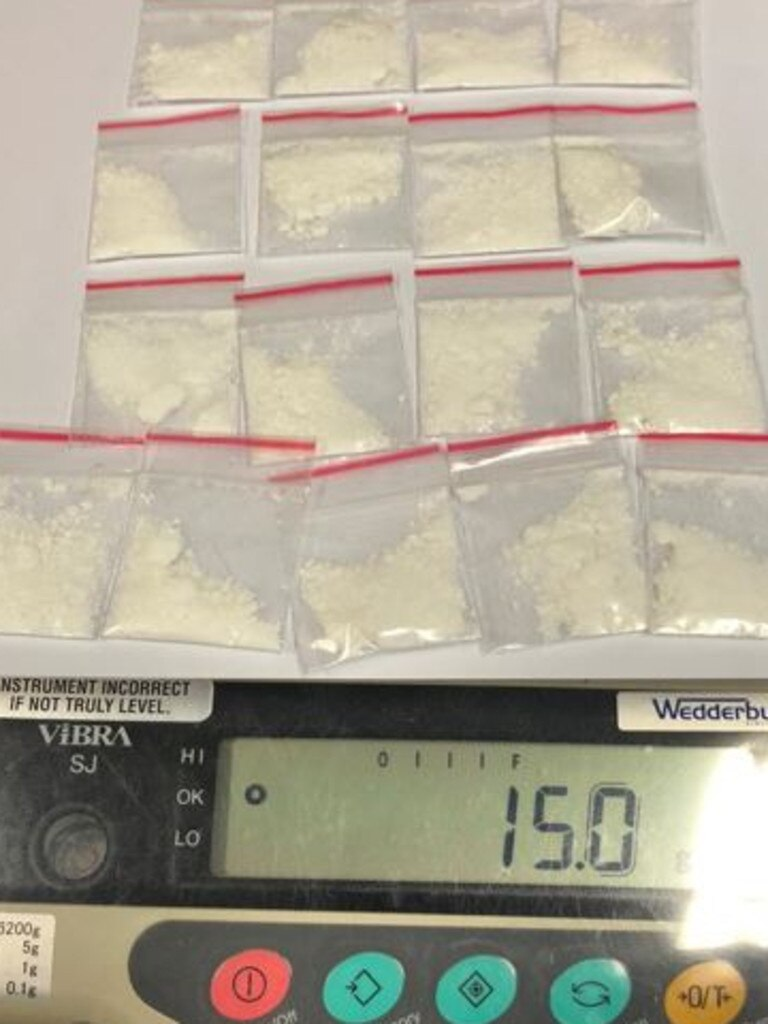 More than 350 grams of cocaine has been seized. Picture: NSW Police Force