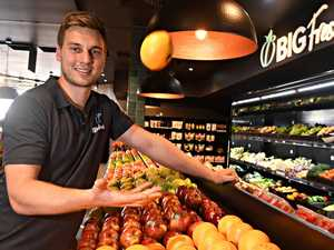 Young businessman takes fruit back to Big Top