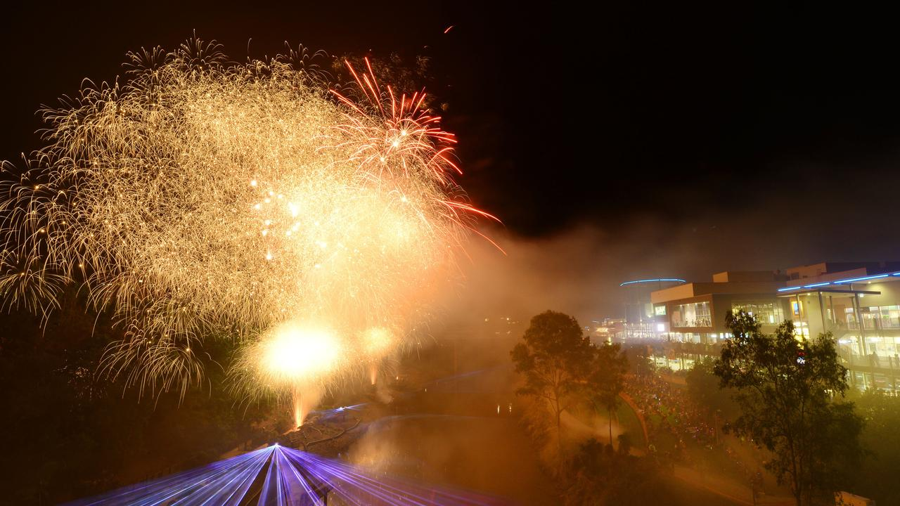 The Ipswich Festival kicked off with a fireworks display at River Heart Parklands.