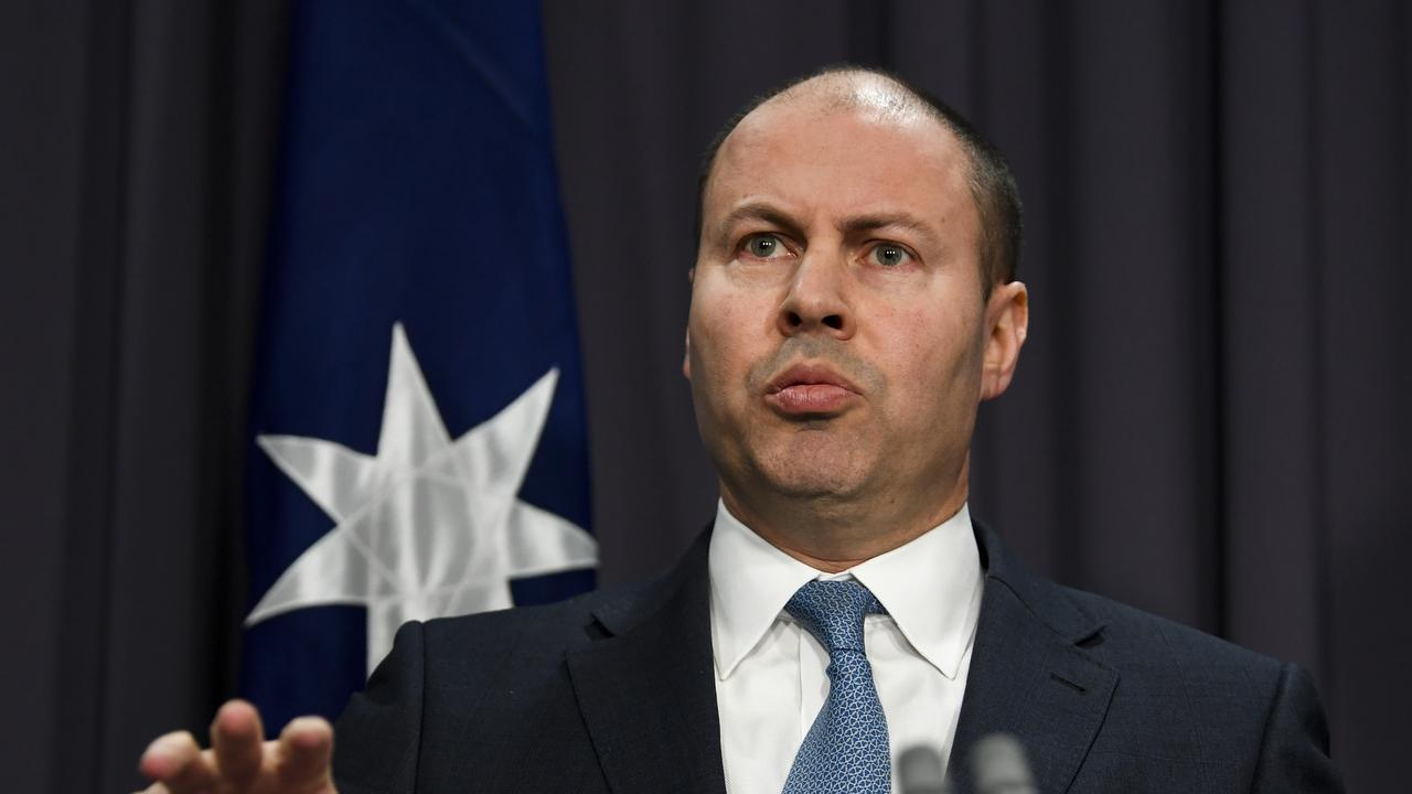 Josh Frydenberg has copped a grilling after announcing that the forecast budget surplus would be slashed to $5 billion.