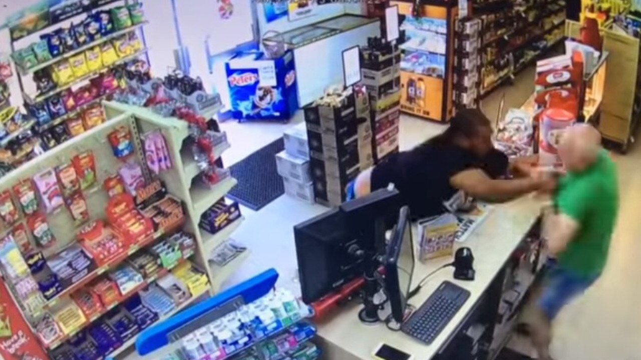 CCTV footage posted on Facebook showed a man attempting to steal cigarettes from a Norman Gardens' convenience store.