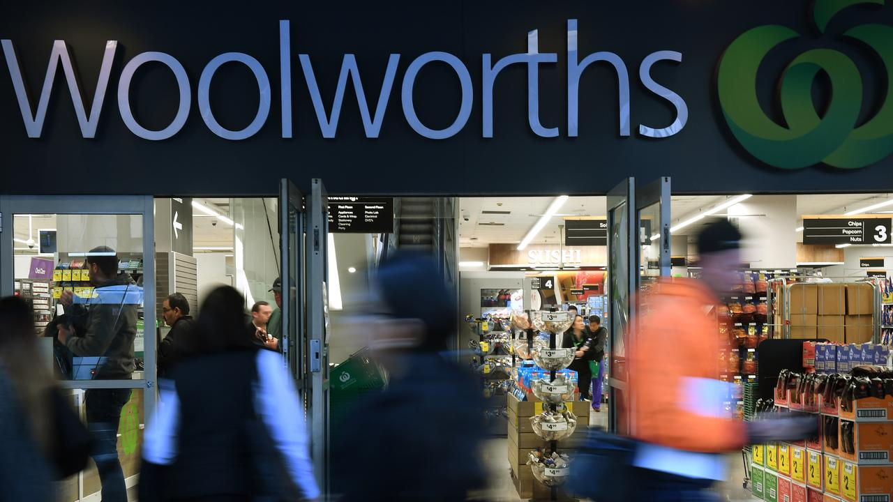 Woolworths' AGM today is expected to be painful for the supermarket giant. Picture: Dean Lewins/AAP