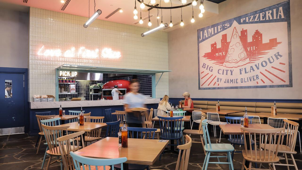 Jamie Oliver's Pizzeria at Pacific Fair Shopping Centre in Broadbeach. Picture: Mark Cranitch.
