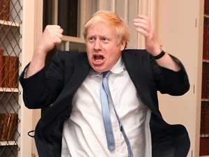 Boris Johnson reacts to stunning victory