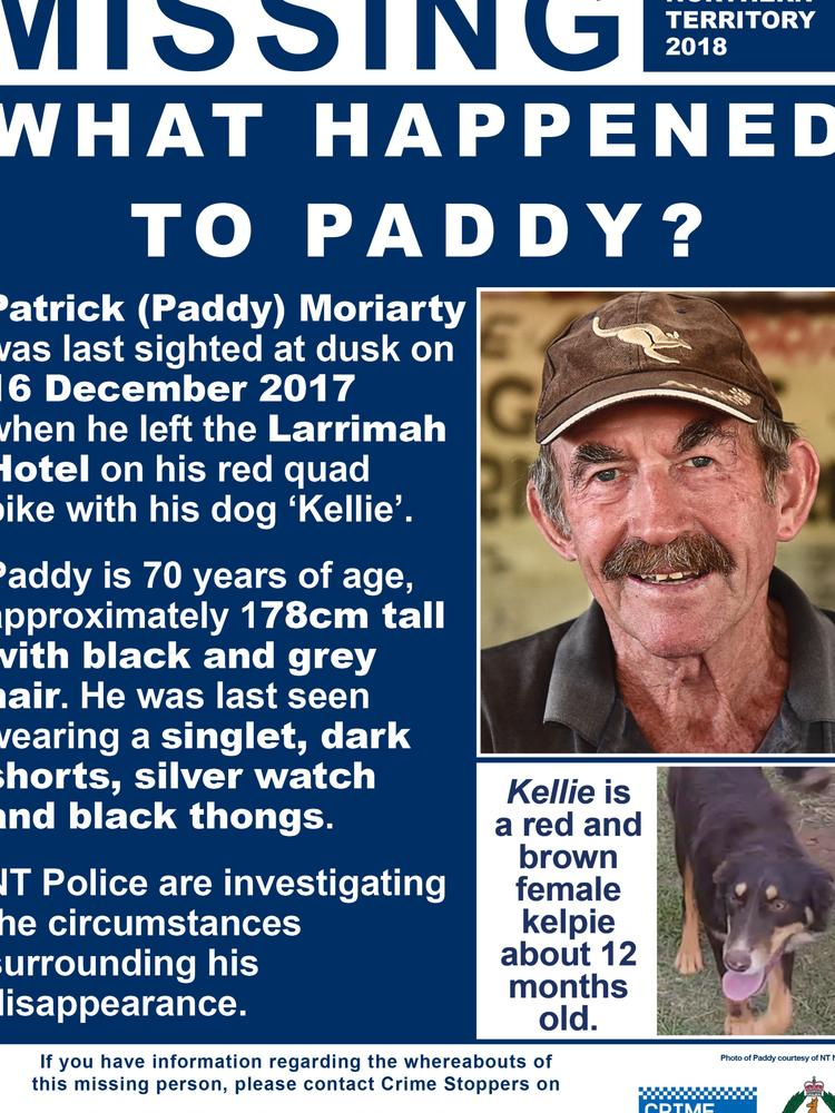 Missing person poster.