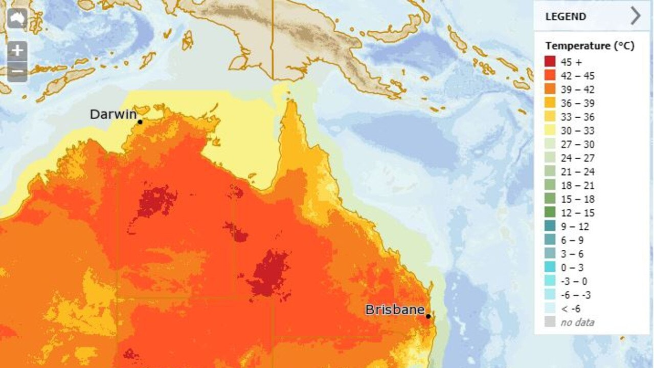 HOT, HOT, HOT: The mercury is set to hit 43C today, beating the December record of 42.6 set only a week ago. Picture: BOM