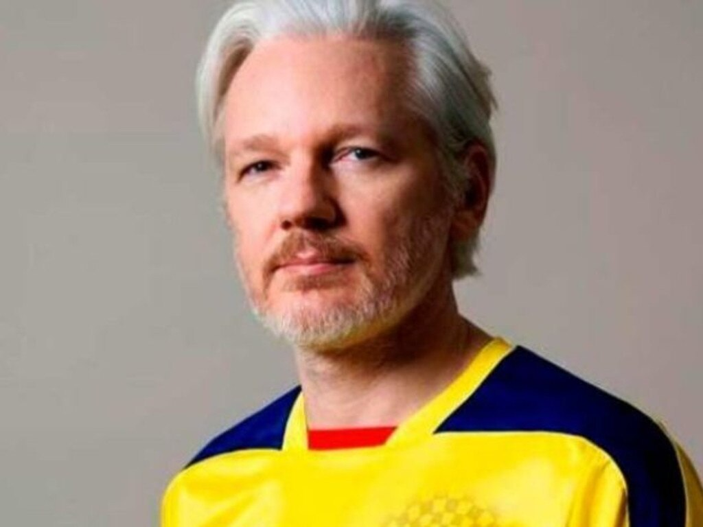 Assange took refuge in the Ecaduorean Embassy. Picture: Twitter