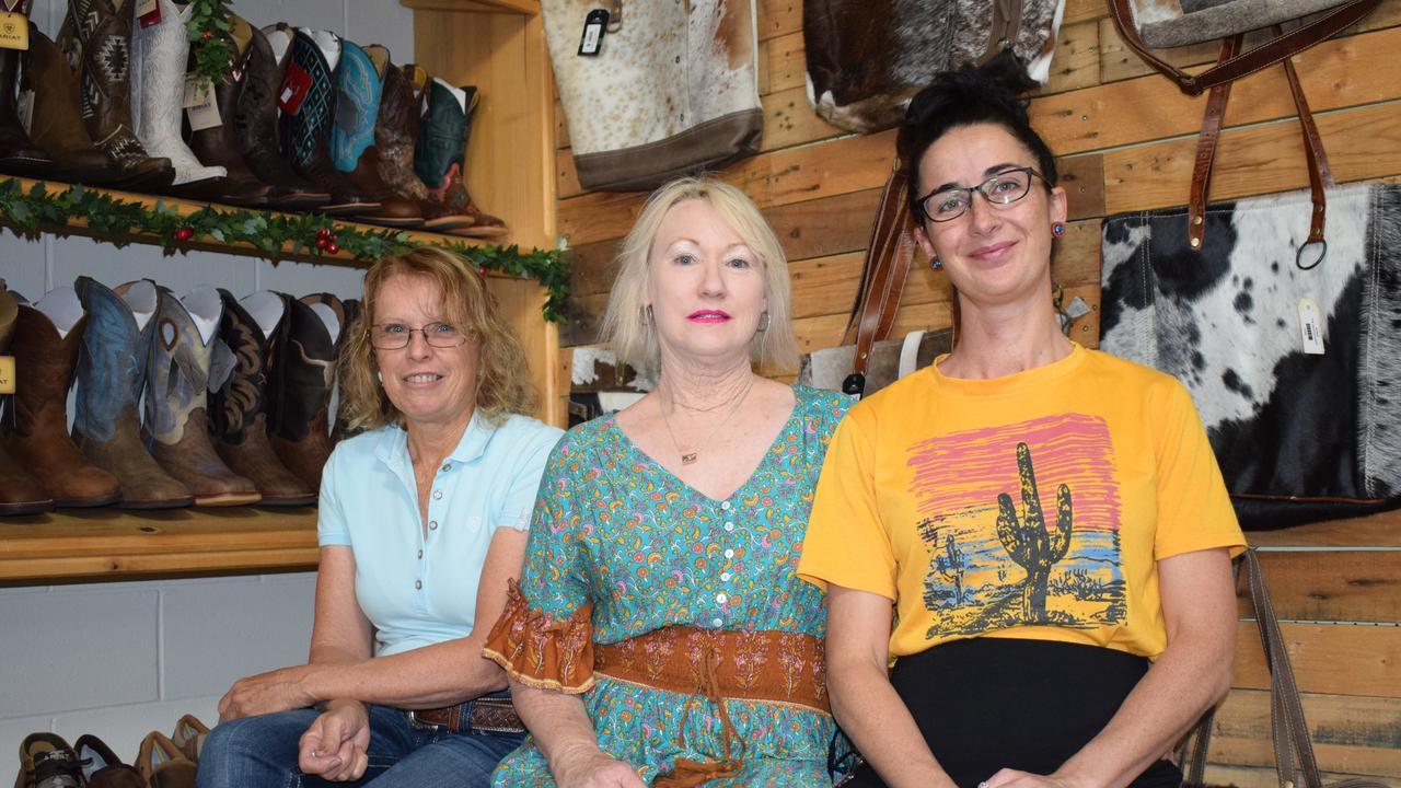 Kerrie Hamilton, Karina Ford and Emma Peel from Mavericks Western Wear.