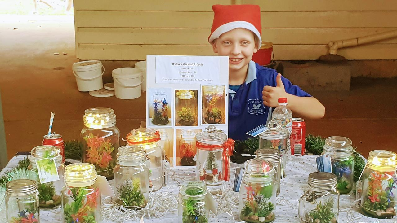 Willow, 11, has started his own business to raise money for firefighters.