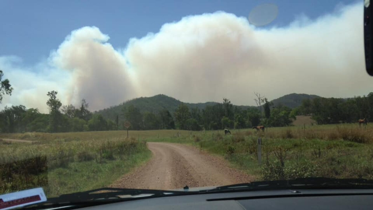 The Upper Kandanga fire is getting worse. This photo was taken from Bella Creek Road couresty of Jeanna Maher.