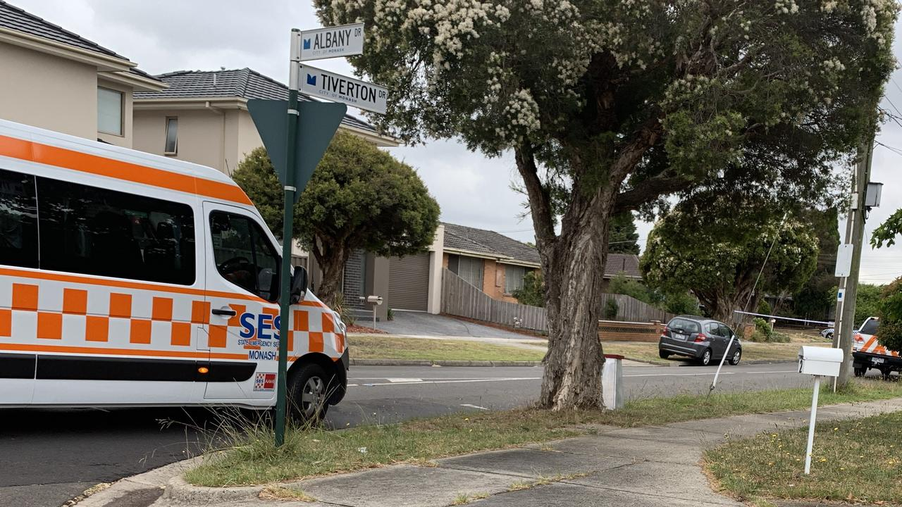 The SES are at the scene of an incident in Mulgrave, where a man was shot by a police officer.