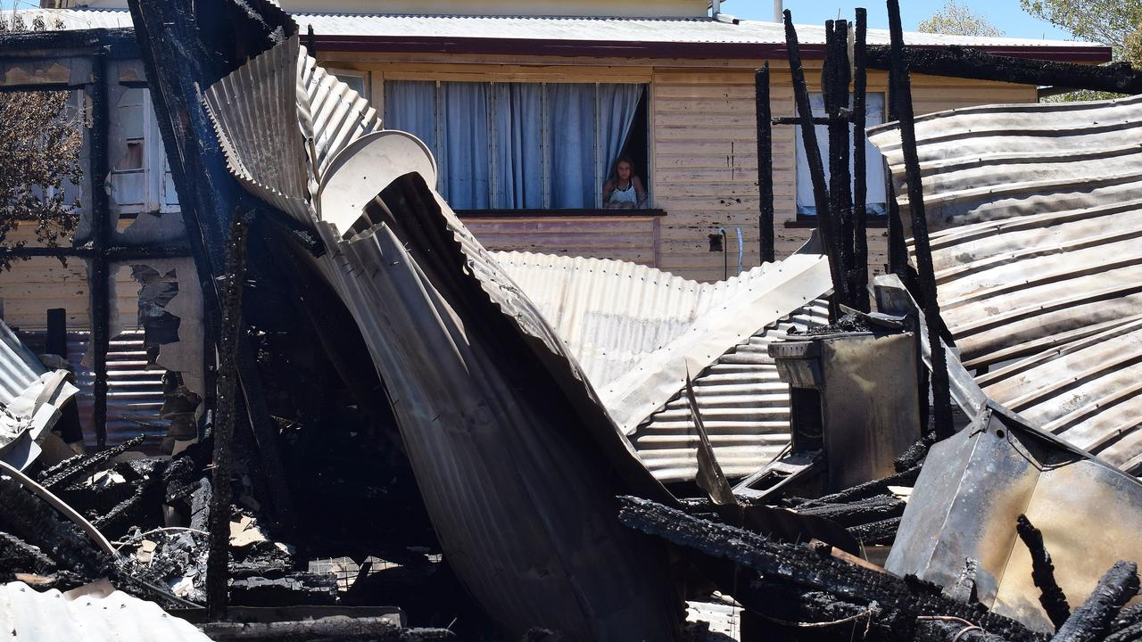 SMOKING HOT: The heat from the fire smashed Cheyenne Lamb's bedroom window. Pic: Peta McEachern