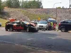 Two vehicle crash holding up traffic