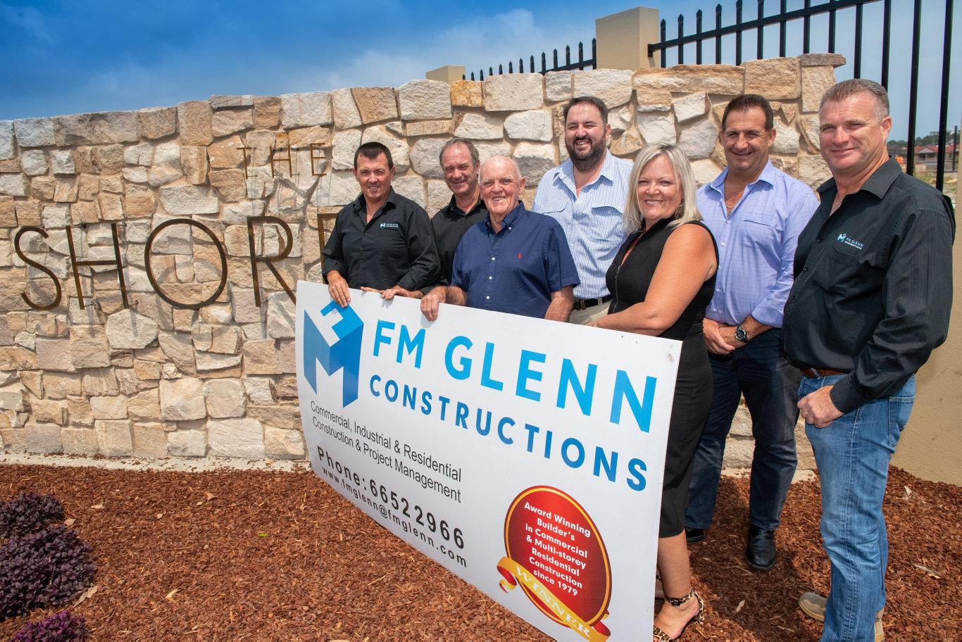 THE BIGGEST EVER: FM Glenn's Robert Norton, Kevin Hartley, Max Glenn with Steve Gooley Bachrach Naumburger Group, Maree Spencer FM Glenn, Mick Carah BNG Group and Craig Spencer, FM Glenn.