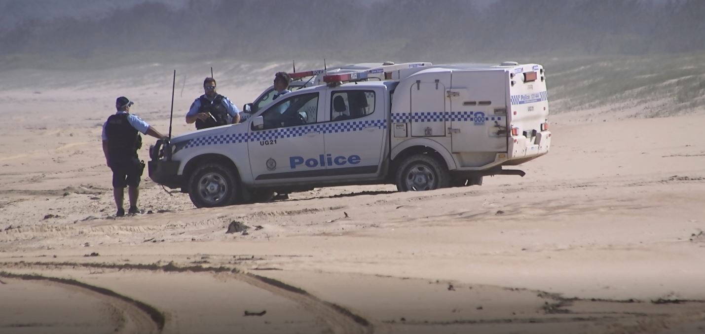 Police have established a crime scene at North Beach Mylestom after human remains were found on the beach this afternoon.
