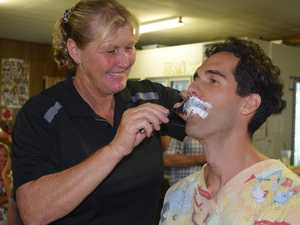 MO-MENTOUS MOMENT: Doc's close shave for Movember