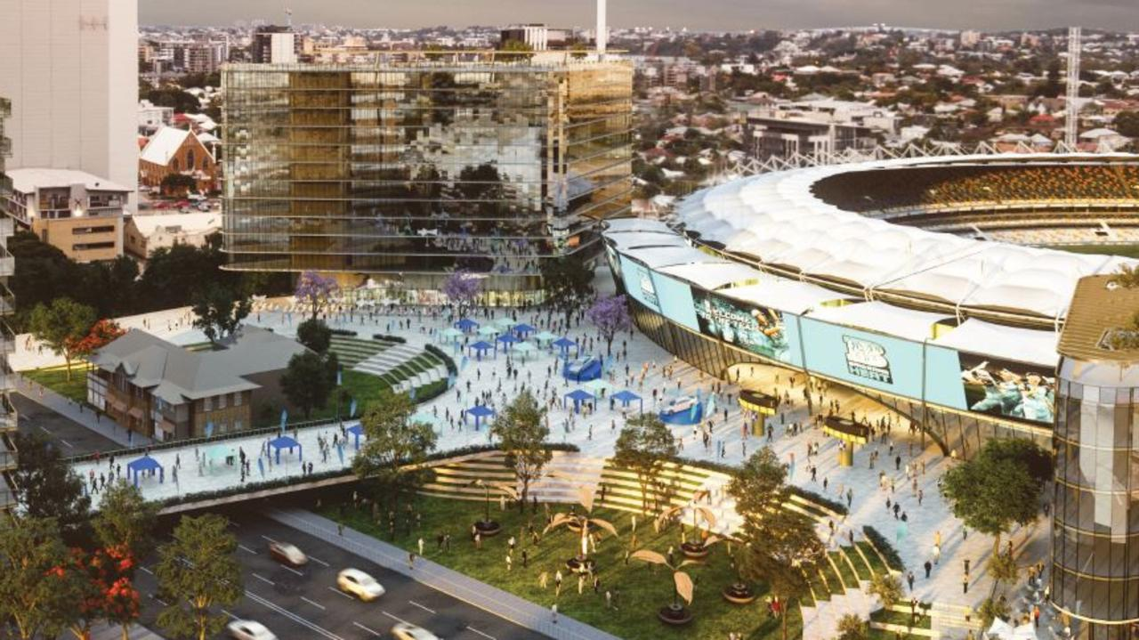 An artist's impression of the Cross River Rail project in Woolloongabba.