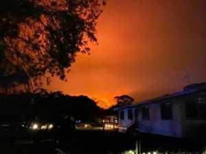 Embers rain on Bundaberg as fire emergency rages