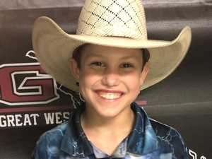 Young cowboy all smiles after convincing win