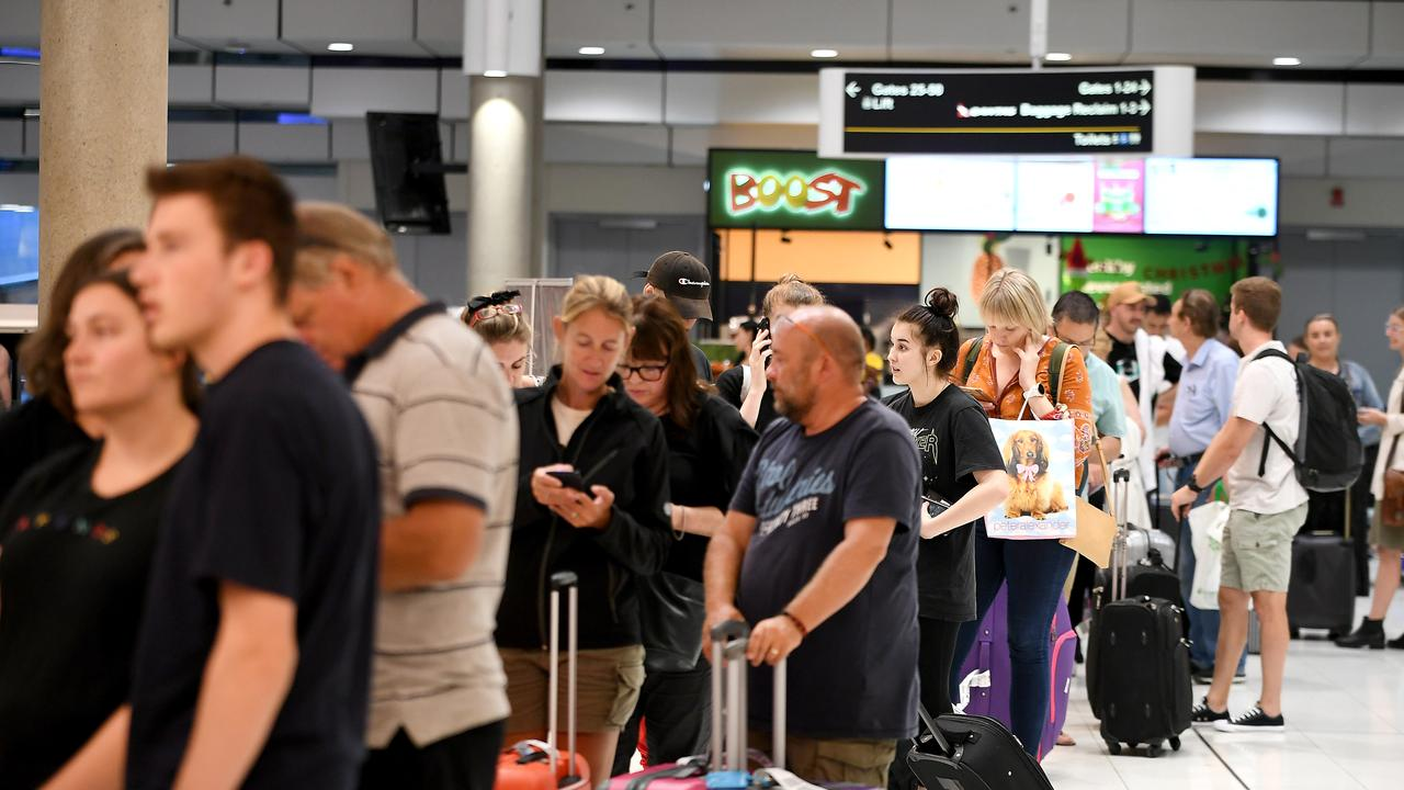 The airline has cancelled 28 domestic flights. Picture: AAP/John Gass