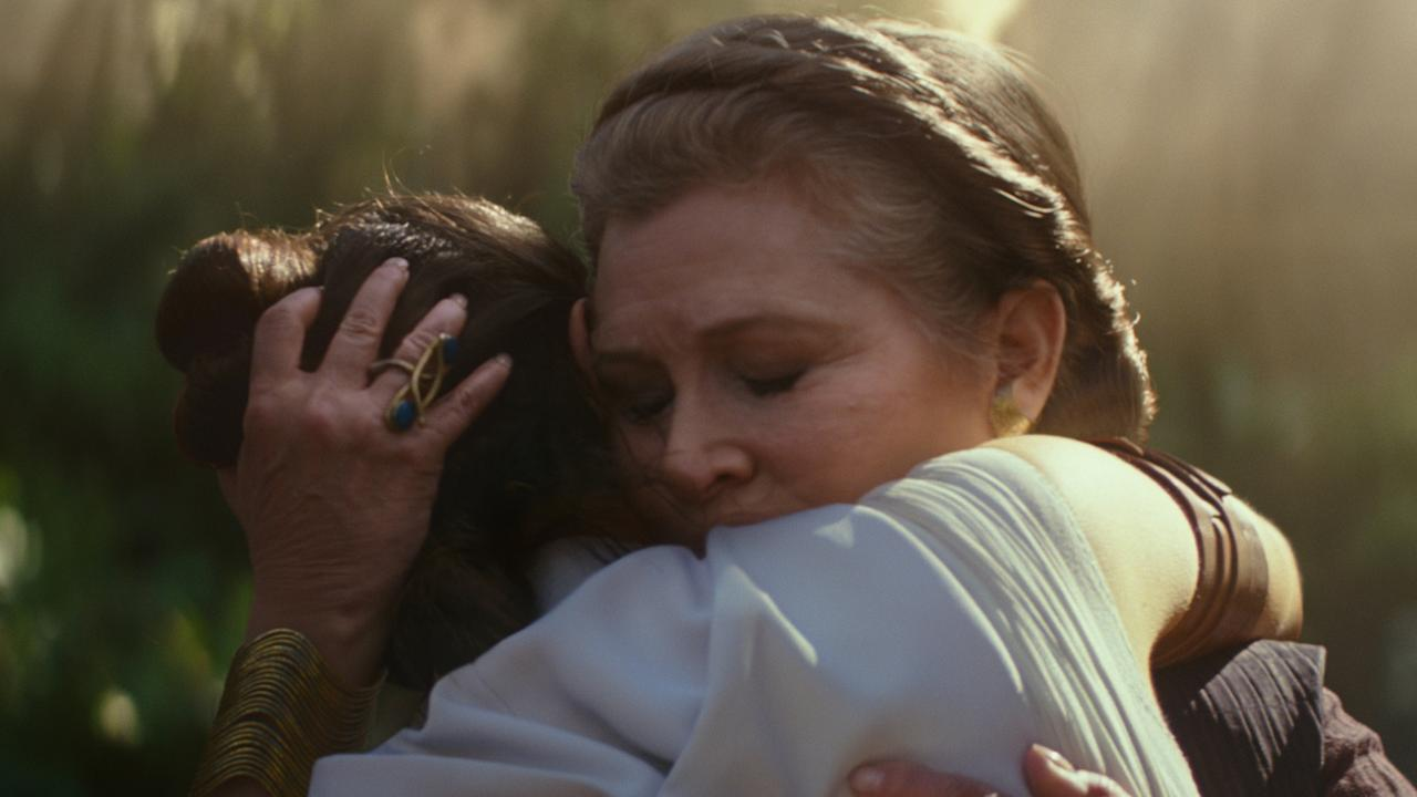 Carrie Fisher's presence in the Rise of Skywalker trailer set off many emotions in fans
