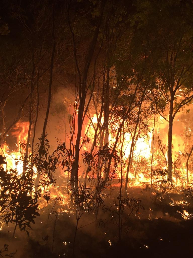 RECENT BLAZE: This image were captured of the Cobraball bushfire burning in the early stages near Old Byfield Road.