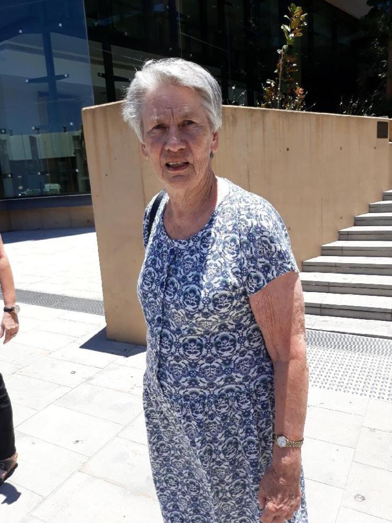 TRAGIC CRASH: Driver Narelle Barwick, 84, leaves Ipswich Courthouse.