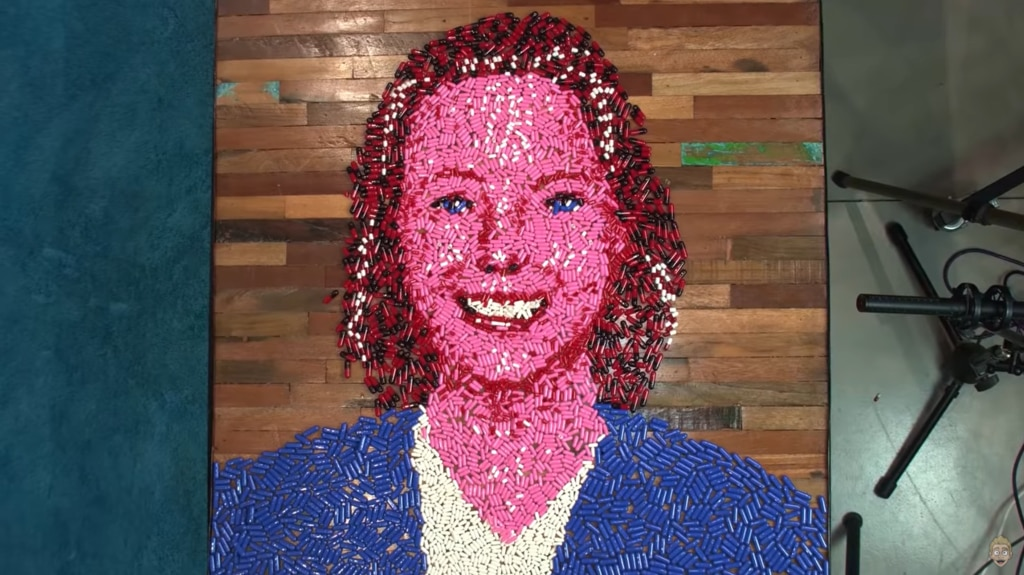 A artist who created a portrait of overdose victim Anna Wood using 20,000 empty pill casings has been flooded with personal stories about drug overdose losses.
