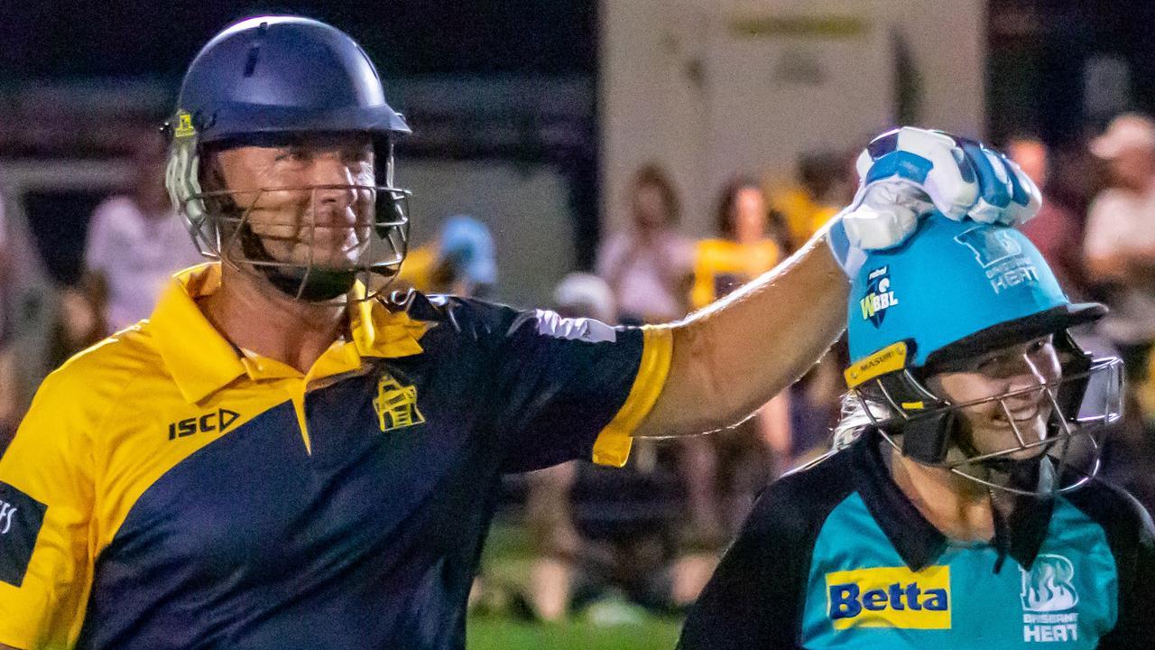 Gympie Regional Cricket Association grand opening - Gold Invitational XII v Presidents XII Gold players Ashley