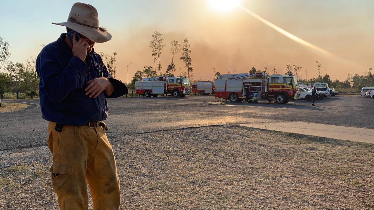 COMMAND POST: First Officer for the Bungundarra Rural Fire Brigade, barely stopped working during the Cobraball Bushfire, desperately trying co-ordinate the saving of people and property. Photo: ABC Capricornia