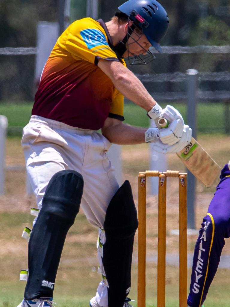 Gympie Regional Cricket Association grand opening - Harlequins v Valleys - Quins Owen Dugdale. Photo: Zahner Photography