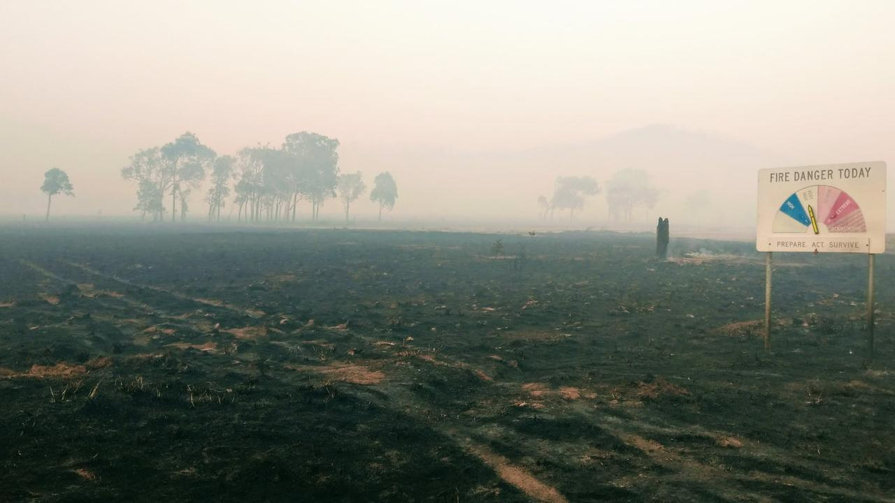 COBRABALL FIRE: QFES said it's hard to say what the appropriate words are to describe the aftermath of a bushfire but we think this picture speaks volumes.