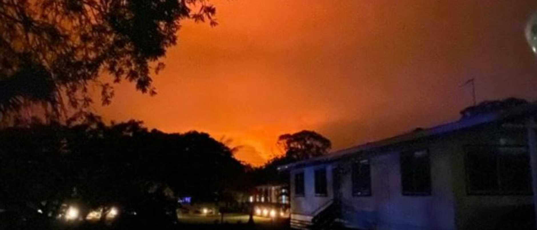Tanya Jenness captured this image at Branyan, near Bundaberg, overnight.