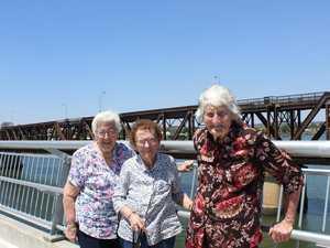 Trio walk over a new bridge, 87 years later